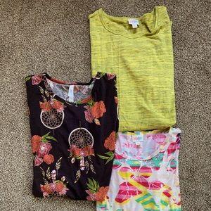 LULAROE Irma Tunic Tops, Bundle of 3, Size XS